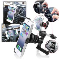 Swivel Car Air Vent Phone Holder Mount and Plate compatible with Apple iPhone 5, Black