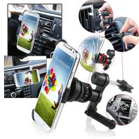Swivel Car Air Vent Phone Holder Mount and Plate compatible with Samsung Galaxy S IV / S4 i9500, Black