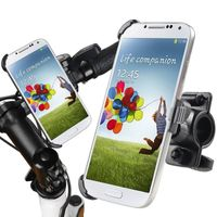 Bicycle Phone Holder Mount and Plate compatible with Samsung Galaxy S IV / S4 i9500, Black