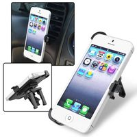 Car Air Vent Phone Holder Mount and Plate compatible with Apple iPhone 5, Black