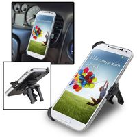 Car Air Vent Phone Holder Mount and Plate compatible with Samsung Galaxy S IV / S4 i9500, Black
