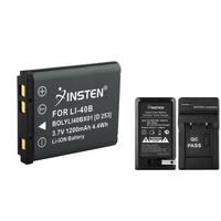 EN-EL10 Compatible Li-Ion Battery & Compact Charger Kit  compatible with Nikon CoolPix S4000, Black