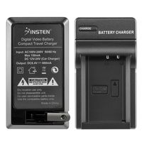 Compact Battery Charger Set  compatible with Canon EOS 1100D, Black