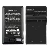 NB-7L Compact Battery Charger Set  compatible with Canon PowerShot G-Series G10, Black