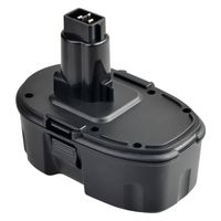 Ni-CD Battery compatible with Dewalt DC9096/DE9036/DE9061/DE9062/DW9061/DW9062, Black