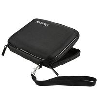 Nylon Case w/ Inside Compartments compatible with  Garmin Nuvi 200W, Black