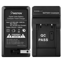 NP-45 Compact Battery Charger Set  compatible with Fuji FinePix Z Series Z100FD, Black