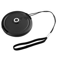 Camera Lens Cap Keeper Holder  compatible with Canon Digital IXUS 500, Black
