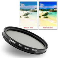 58mm-Circular Polarizing Lens Filter  compatible with Konica Minolta DiMage E Series E223, Black