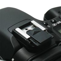 Camera Flashlight  Hot  Shoe Cover  compatible with Samsung© Digimax L210, Black
