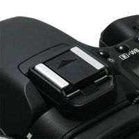 Camera Flashlight  Hot  Shoe Cover  compatible with Samsung© Digimax A55W, Black