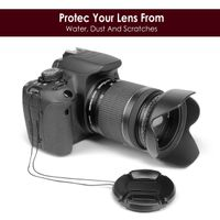 Camera Lens Cap  compatible with Sony Alpha SLT-A33, Black