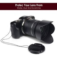 Camera Lens Cap  compatible with Canon EOS 1100D, Black