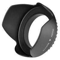 Camera Lens Hood  compatible with Samsung© Digimax A55W, Black