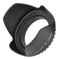 52mm Camera Lens Hood  compatible with Nikon CoolPix L4, Black