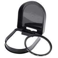 58mm-Ultra Violet (UV) Lens Filter  compatible with Samsung© Digimax A55W, Black