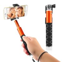 Extendable Portable Handheld Selfie Stick, Orange