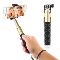 Extendable Portable Handheld Selfie Stick, Champagne Gold