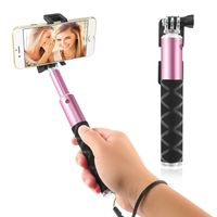 Extendable Portable Handheld Selfie Stick, Pink