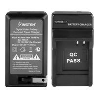 CGA-S007 CGA-S007A/1B CGA-S007E CGR-S007E DMW-BCD10 Compatible Compact Battery Charger  compatible with Panasonic LUMIX DMC-TZ50-K, Black