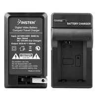 Compact Battery Charger Set [NP-FW50]  compatible with Sony Alpha SLT-A33, Black