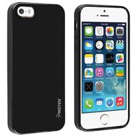 TPU Rubber Skin Case compatible with Apple iPhone 5 / 5S, Black Jelly
