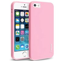 TPU Rubber Skin Case compatible with Apple iPhone 5 / 5S, Light Pink Jelly