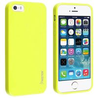 TPU Rubber Case Compatible with Apple iPhone 5 / 5S, Yellow Jelly
