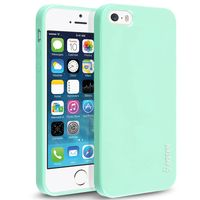 TPU Rubber Skin Case compatible with Apple iPhone 5 / 5S, Mint Green Jelly