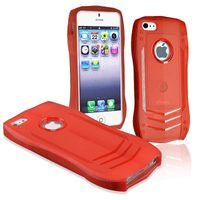 TPU Rubber Skin Case Compatible with Apple iPhone 5 / 5S, Red Lamborghini