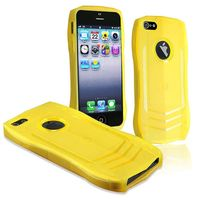 TPU Rubber Skin Case Compatible with Apple iPhone 5 / 5S, Yellow Tank Design