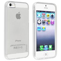 TPU Rubber Skin Case compatible with Apple iPhone 5 / 5S, Clear