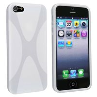 TPU Case Compatible with Apple iPhone 5 , White X Shape