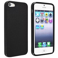 TPU Case Compatible with Apple iPhone 5, Black Skin Veins