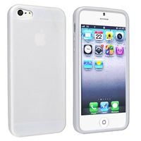 TPU Case Compatible with Apple iPhone 5, White Skin Veins
