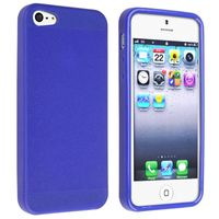 TPU Case Compatible with Apple iPhone 5, Blue Skin Veins