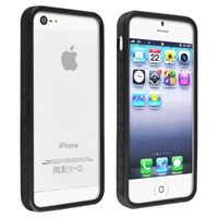 Bumper TPU Case Compatible with Apple iPhone 5 / 5S, Black