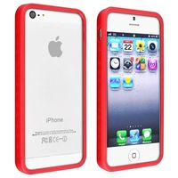 Bumper TPU Case Compatible with Apple iPhone 5 / 5S, Red
