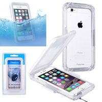 Snap in Waterproof case compatible with Apple iPhone 6/ 6s,White