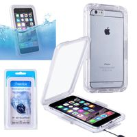 "Snap in Waterproof case compatible with Apple iPhone 6 Plus 5.5"",White"