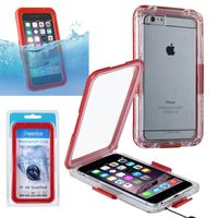 "Snap in Waterproof case compatible with Apple iPhone 6 Plus 5.5"",Red"