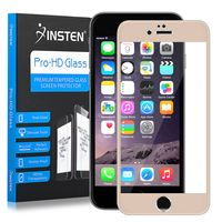 Frame Tempered Glass Screen Protector Compatible with Apple iPhone 6 Plus/6s Plus, Gold