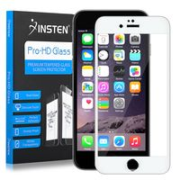 Frame Tempered Glass Screen Protector Compatible with Apple iPhone 6 Plus/6s Plus, Silver