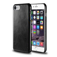 Leather Textured Back Cover compatible with Apple iPhone 7, Black
