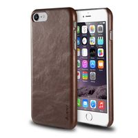 Leather Textured Back Cover compatible with Apple iPhone 7, Brown