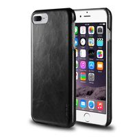 Leather Textured Back Cover compatible with Apple iPhone 7 Plus, Black