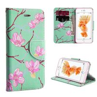 Leather Case with Card Slots compatible with Apple iPhone 7, Japanese Blossom