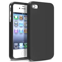 Silicone Skin Case  compatible with Apple® iPhone® 4S, Black