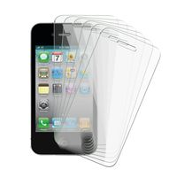 6-piece Reusable Screen Protector Compatible with Apple iPhone 4 AT&T/ Verizon