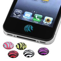 6 Pieces Home Button Sticker  compatible with Apple® iPad® Air, Zebra Face